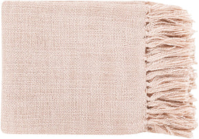 Tilda Traditional Woven Throw - Pink