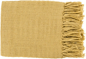 Tilda Traditional Woven Throw - Yellow