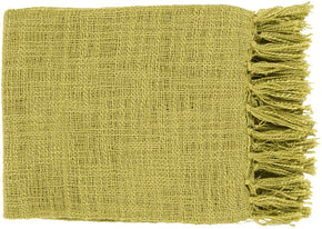 Tilda Traditional Woven Throw - Green