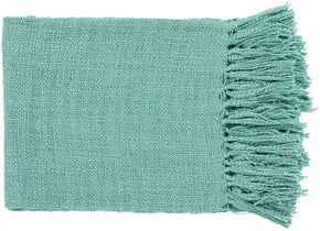 Tilda Traditional Woven Throw - Emerald