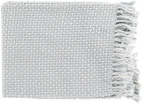 Throws - Surya TIE1000-5060 Tierney Traditional Woven Throw - Gray | 888473400301 | Only $39.60. Buy today at http://www.contemporaryfurniturewarehouse.com