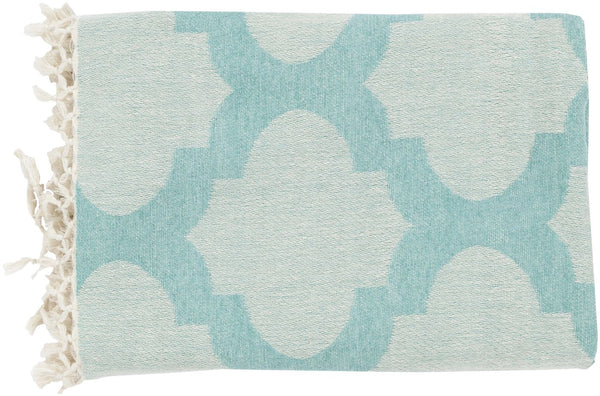 Trellis Modern Woven Throw - Blue