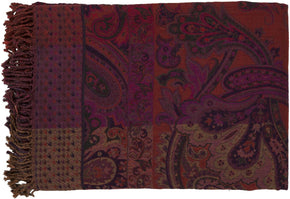 Tenali Global Inspired Woven Throw - Purple