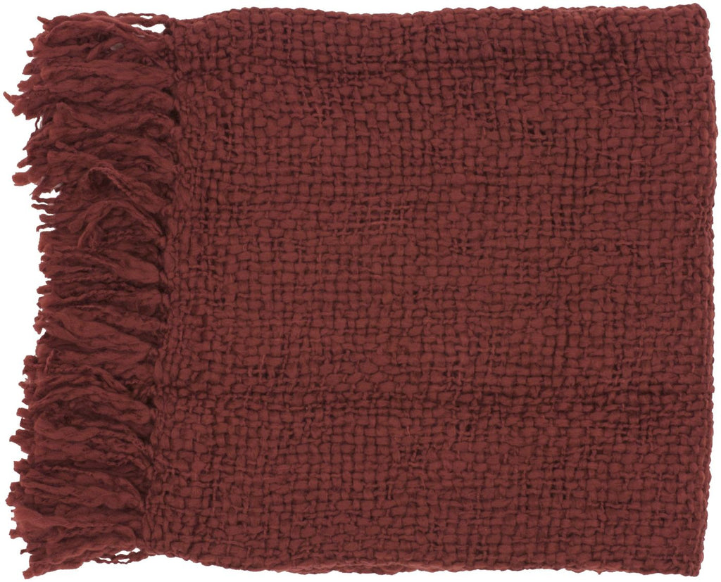 Tobias Traditional Woven Throw - Red