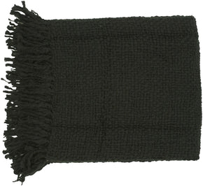 Tobias Traditional Woven Throw - Black