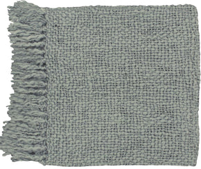 Tobias Traditional Woven Throw - Gray