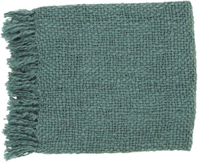 Tobias Traditional Woven Throw - Blue