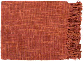 Tori Traditional Woven Throw - Red