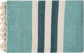 Troy Traditional Woven Throw - Blue