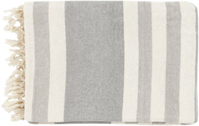 Troy Traditional Woven Throw - Gray