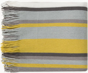 Topanga Traditional Woven Throw - Gray