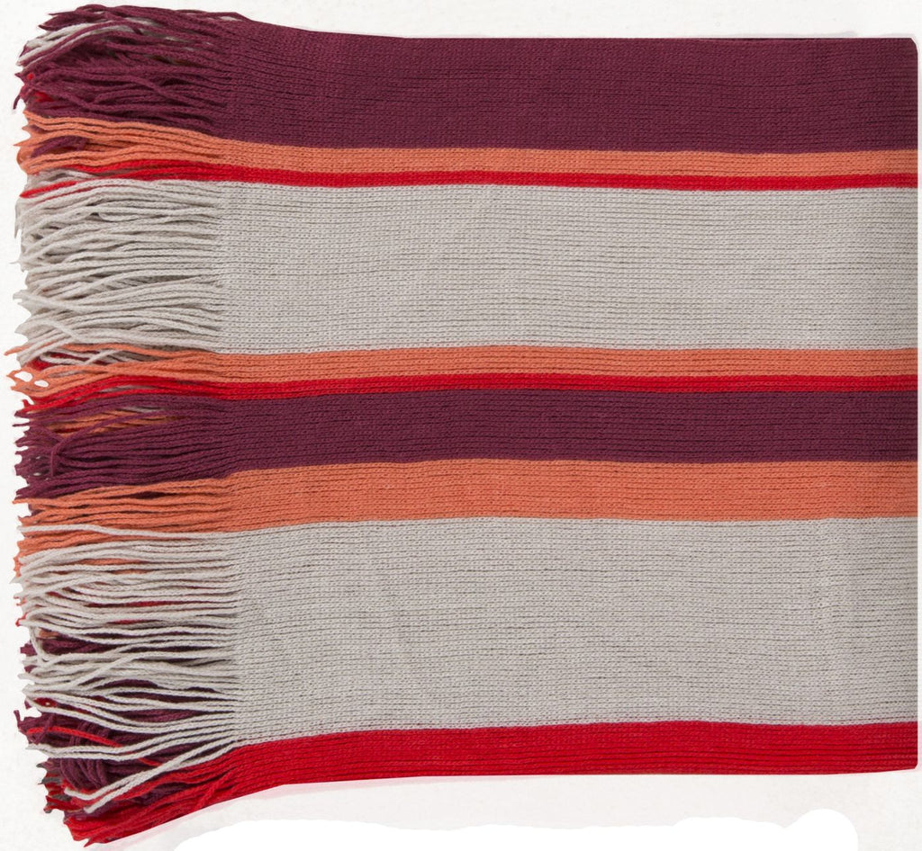 Topanga Traditional Woven Throw - Red
