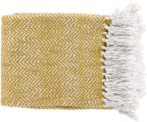 Trina Traditional Woven Throw - Yellow