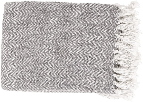 Trina Traditional Woven Throw - Gray