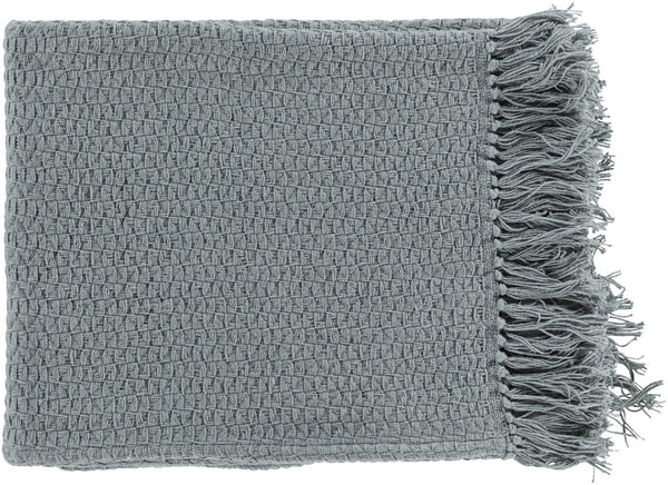 Tressa Contemporary Woven Throw - Gray