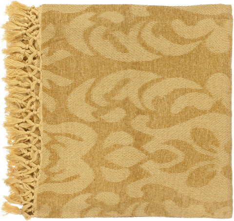 Tristen Traditional Woven Throw - Yellow