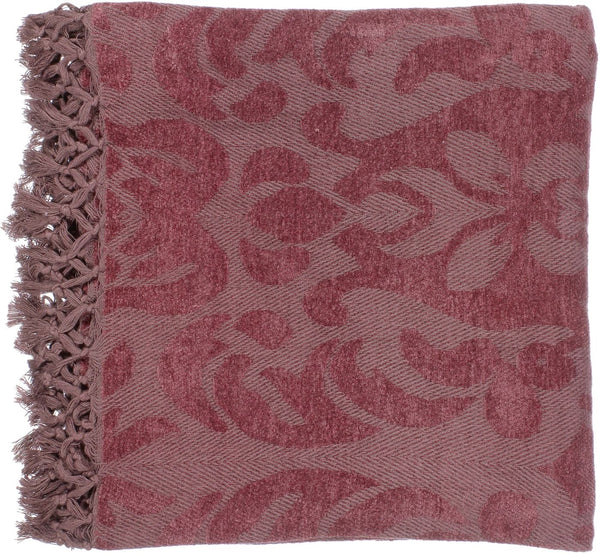 Throws - Surya TST2002-5070 Tristen Traditional Woven Throw - Red | 764262091236 | Only $55.80. Buy today at http://www.contemporaryfurniturewarehouse.com