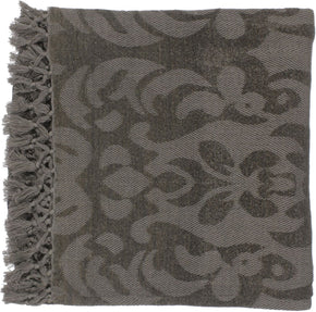 Tristen Traditional Woven Throw - Brown
