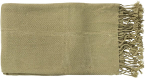 Turner Traditional Woven Throw - Green