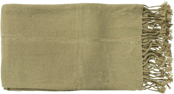 Throws - Surya TUR8402-5060 Turner Traditional Woven Throw - Green | 764262528510 | Only $30.00. Buy today at http://www.contemporaryfurniturewarehouse.com