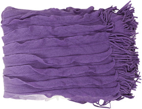 Toya Modern Woven Throw - Purple