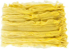 Toya Modern Woven Throw - Yellow