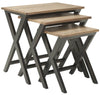 Jack Stacking Tray Tables Black/oak Table