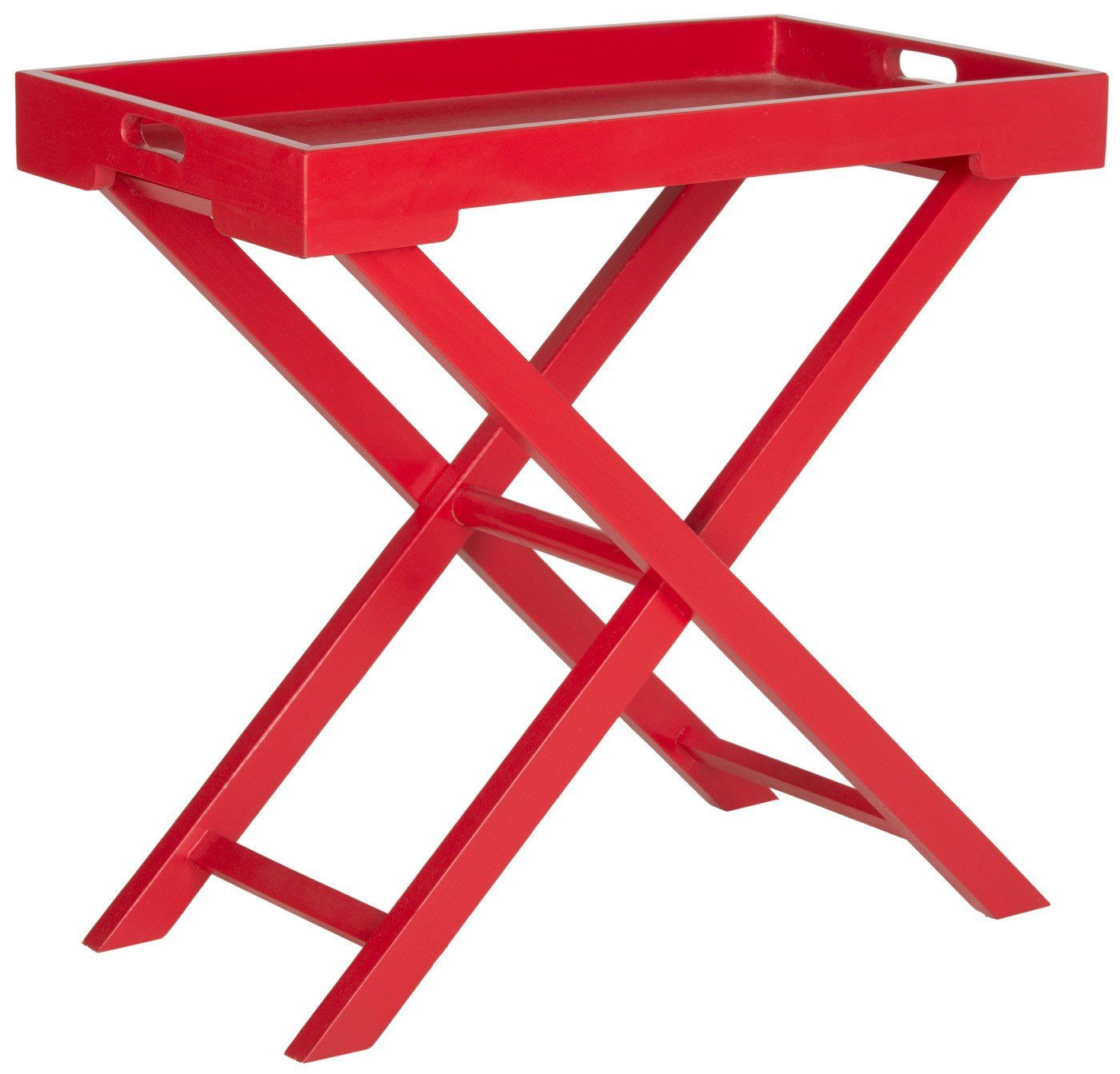 - Buy Safavieh AMH6624C Leo Accent Tray Table Hot Red At