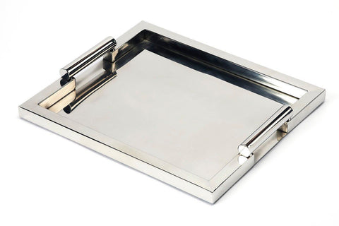 Morante Modern Rectangular Serving Tray Silver