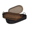 Oval Rattan Trays Black Brown Tray