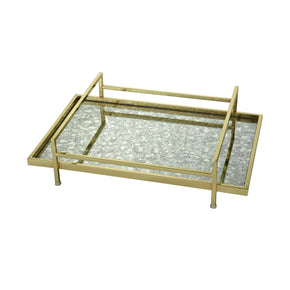 Marlborough Tray Gold,antique Mirror