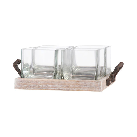 Campagne 4 Server Rustic,ashwood,clear Tray