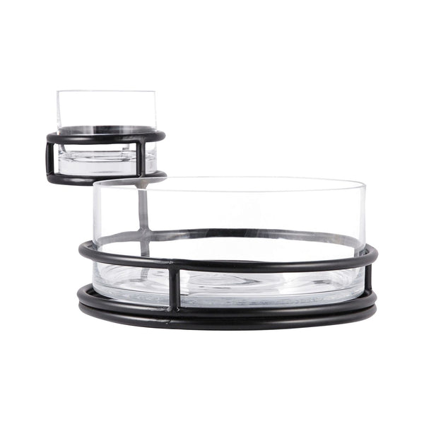 Stanton Chip And Dip Black,clear Tray