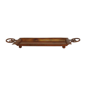 Burnham Tray Heavy Montana Rustic,burned Copper