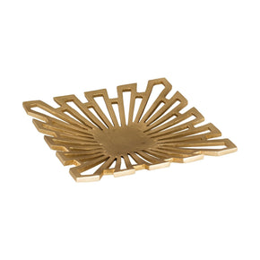 Greek Starburst Tray Gold