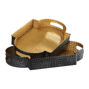 Gatha Bronze & Gold Trays S/2 Tray