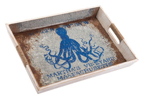 Nautical Tray Lg Blue