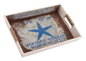 Nautical Tray Small Blue