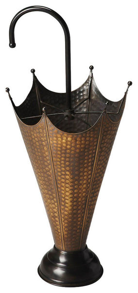 Poppins Traditional Round Umbrella Stand Gold