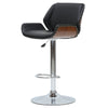 Tudor PU Leather Bamboo Gaslift Bar Stool Black