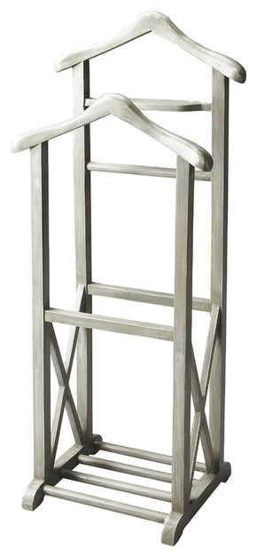 Riley Transitional Valet Stand Gray