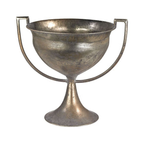 Metal Trophy Urn Natured Aged Vase