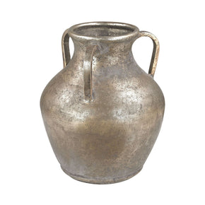 Metal Water Jug Vase Natured Aged