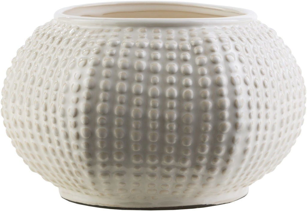 Clearwater Coastal Table Vase Ivory Light Gray