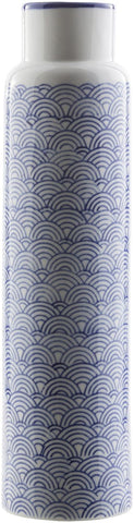 Iona Traditional Table Vase Navy Ivory Cobalt
