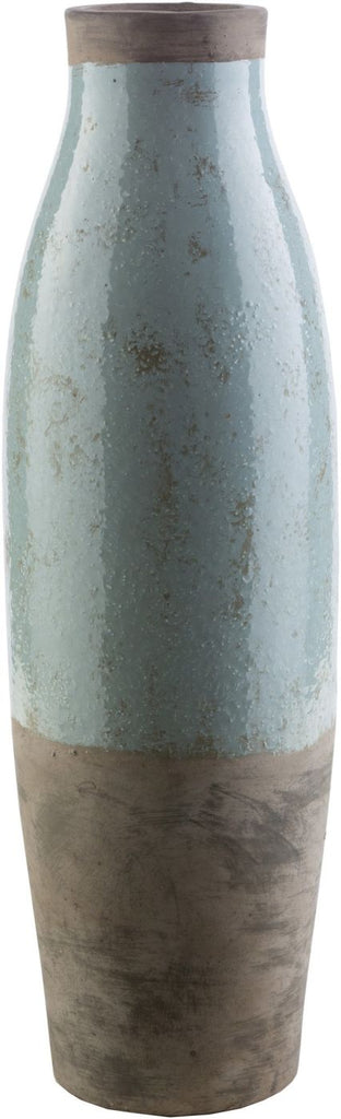 Leclair Cottage/country Floor Vase Light Gray Olive