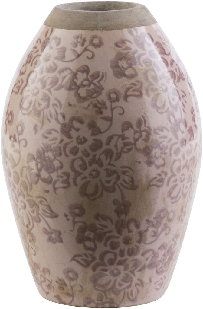 Leclair Cottage/country Table Vase Taupe Chocolate Olive Beige