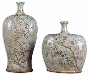 Citrita Decorative Ceramic Vases Set/2 Vase