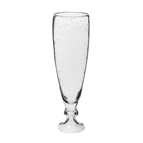 Bubbled Ice Vase With Foot - Lg Vase/urn