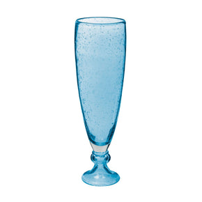 Bubbled Pool Blue Vase - Lg Vase/urn
